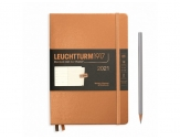 LEUCHTTURM1917 diary 2021 Medium (A5) Weekly plannner & Notebook METALLIC