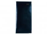 Pocket diary 2019 Luxury Leather Lines blue / blue