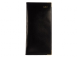 Pocket diary 2019 Luxury Leather Lines black